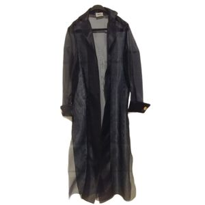Navy Blue Organza Coat